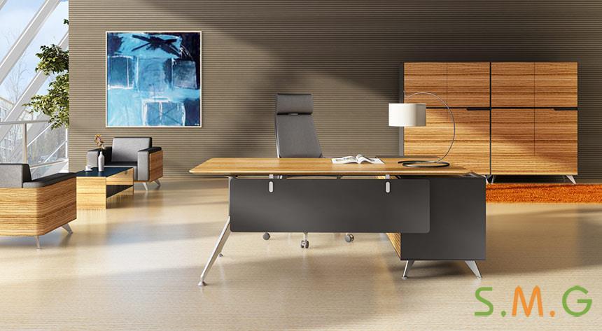 木纹老板桌