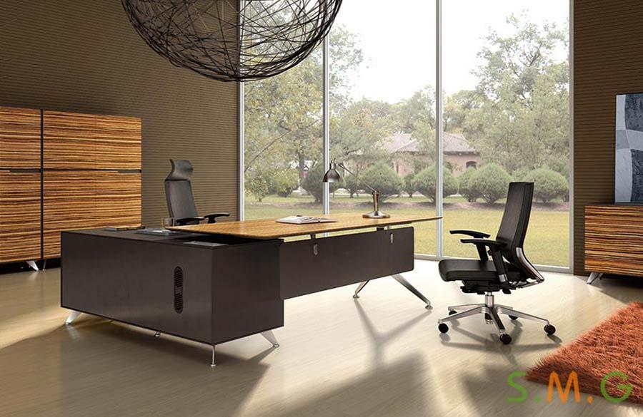木纹老板桌2