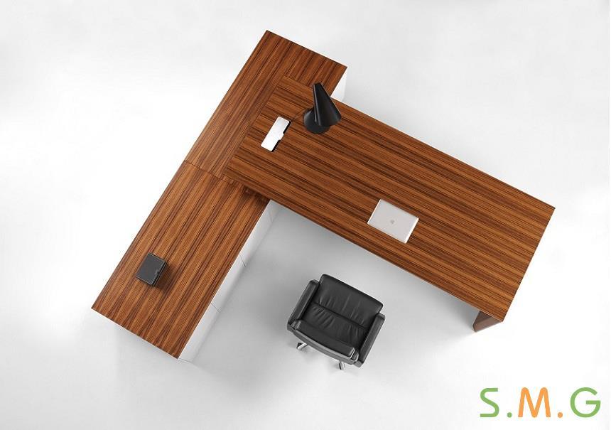 博德纯板式办公桌3