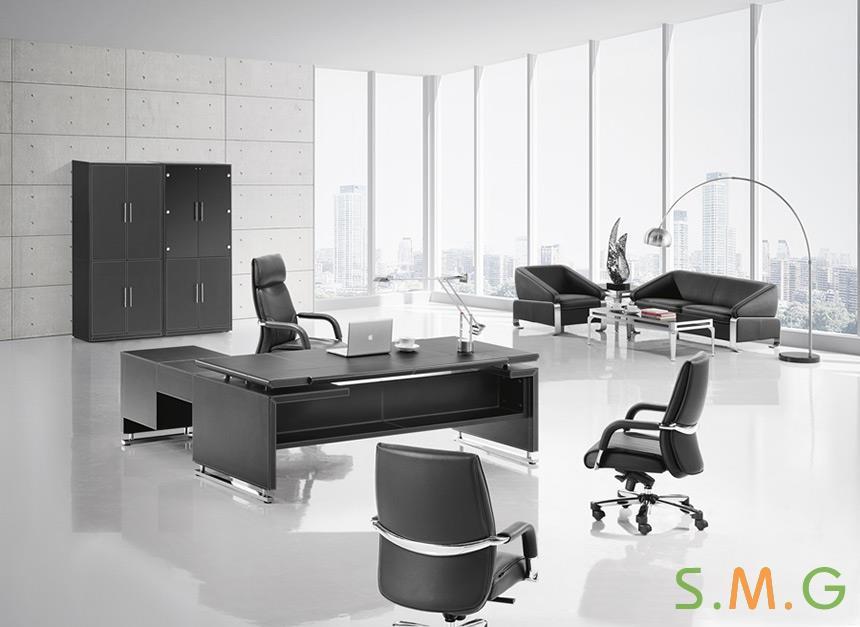 尊雅皮质办公桌3