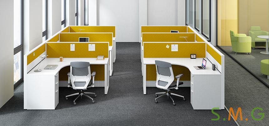 灵克屏风卡位_员工桌2