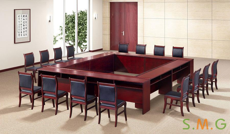 长条桌_钢木培训桌5