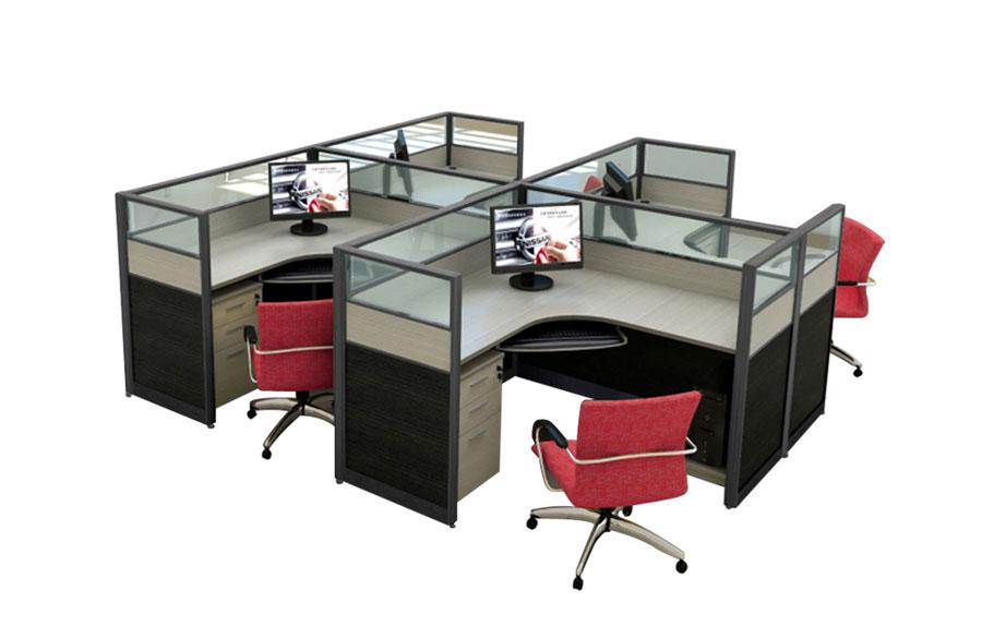 屏风卡座_隔断电脑桌