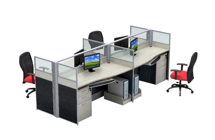 系统桌系列_隔断组合桌