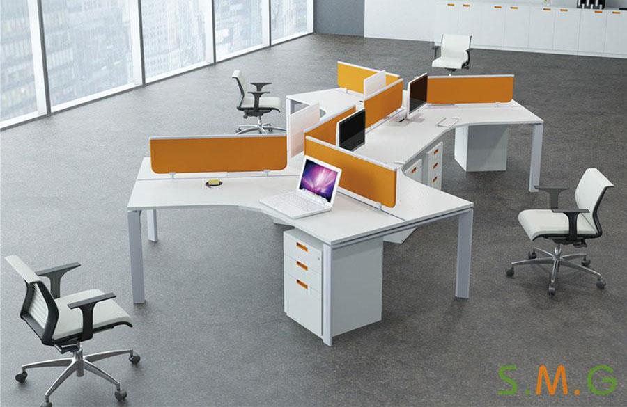 V型电脑桌