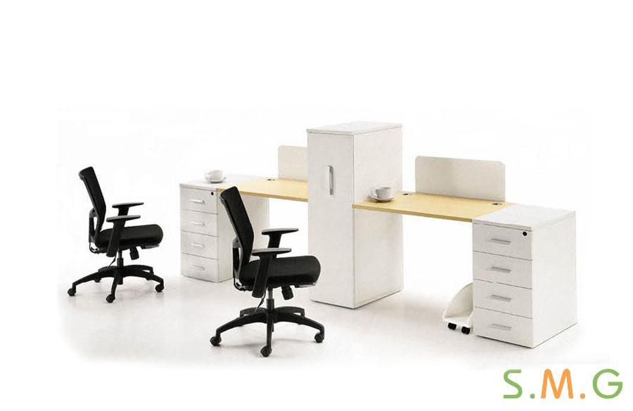 全板式员工桌4