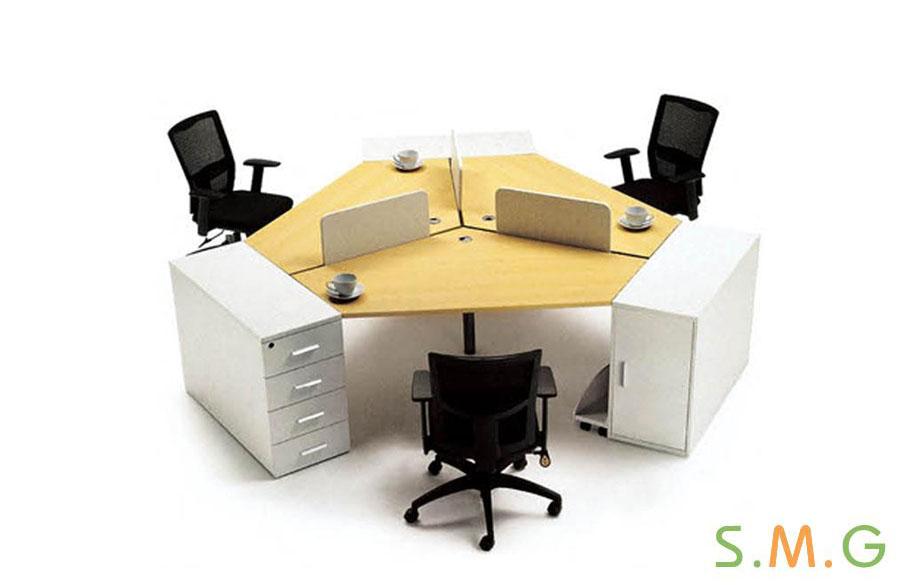 异形板式员工桌2
