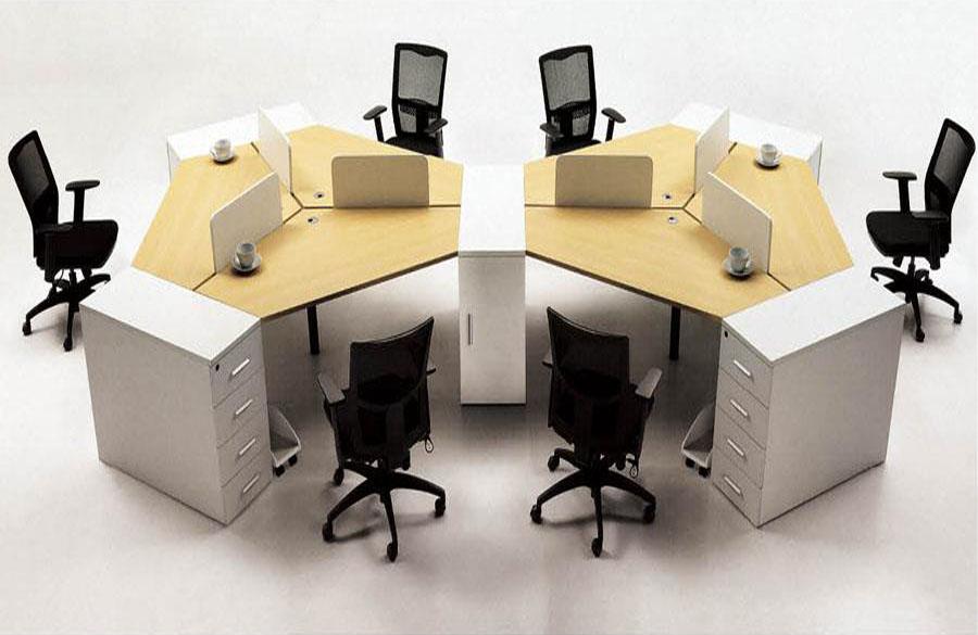 三角板式员工桌