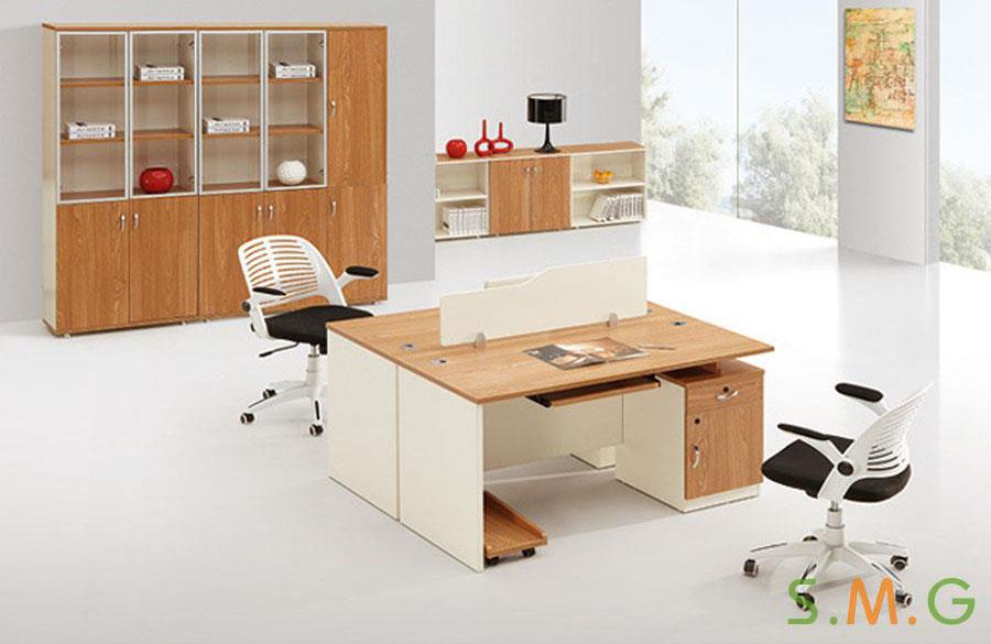 原木板式电脑桌3
