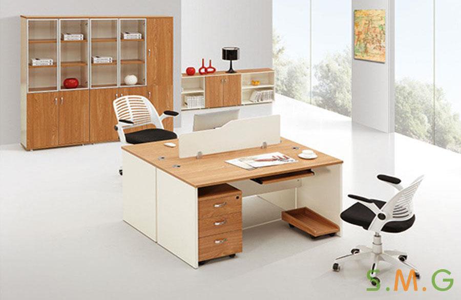 原木板式电脑桌6