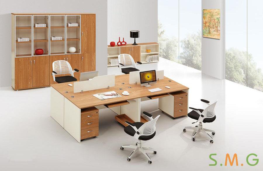 原木板式电脑桌5