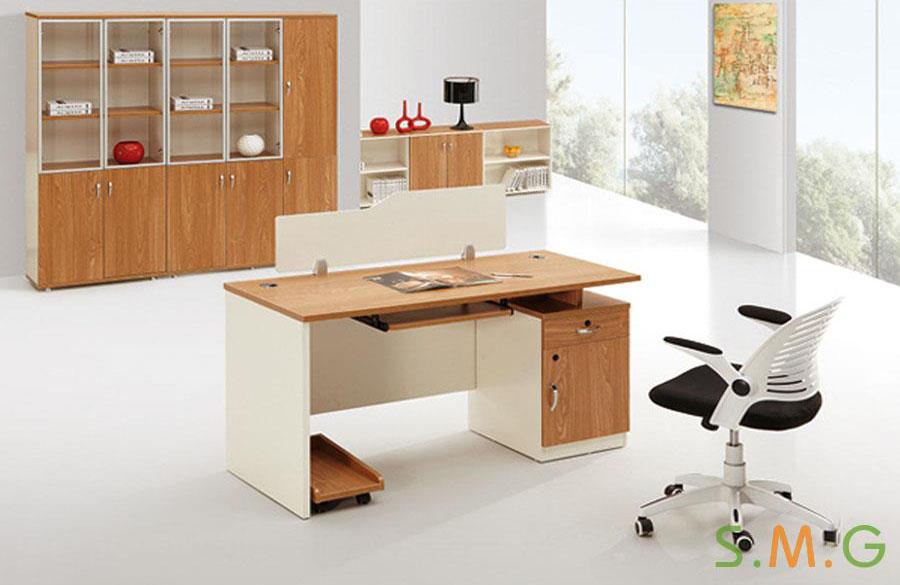 原木板式电脑桌4