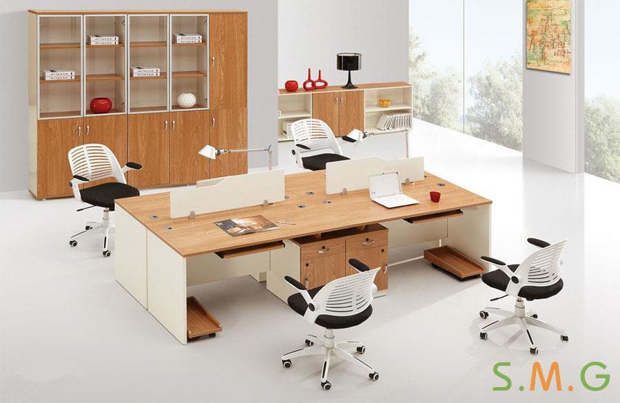 原木板式电脑桌1